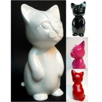 Figurine petit chat Face